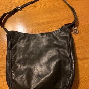 Vintage FENDI Black Leather Bag